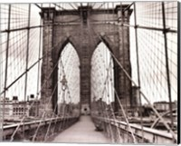 Framed Brooklyn Bridge - sepia