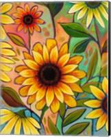 Framed Sunflower Power II