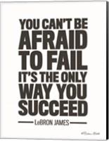 Framed LeBron James Quote