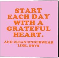 Framed Grateful Heart