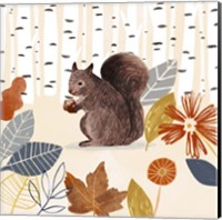 Framed Cozy Autumn Woodland IV