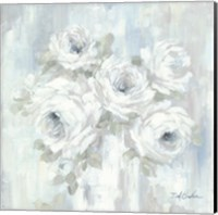 Framed White Roses