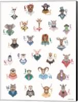 Framed Animal Alphabet Poster