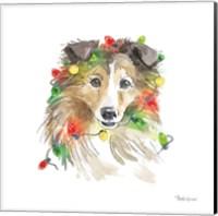 Framed Holiday Paws IX on White