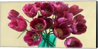 Framed Red Tulips in a Glass Vase (detail)