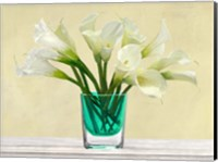 Framed White Callas in a Glass Vase