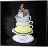 Framed Chihuahua Teacups