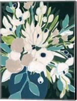 Framed Blue Bloom Sketch I