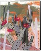 Framed Desert Flowers II