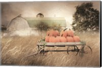 Framed Pumpkin Harvest