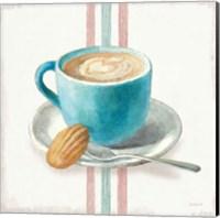 Framed Wake Me Up Coffee I with Stripes