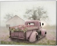 Framed Pink Flower Truck