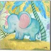 Framed Playful Elephant