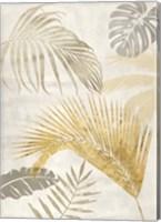 Framed Palm Leaves Gold II