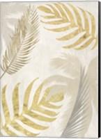 Framed Palm Leaves Gold III