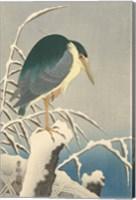 Framed Heron in Snow, 1920-1930