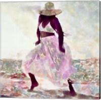Framed Her Colorful Dance II