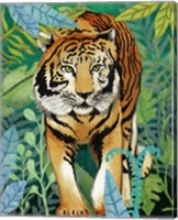 Framed Tiger In The Jungle II