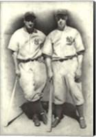 Framed Dimaggio and Gehrig