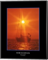 Framed Success - orange sunset