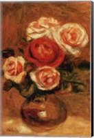 Framed Roses In A Vase