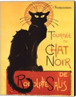 Framed Tournee du Chat Noir (Yellow Background)