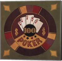 Framed Poker - $100