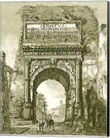 Framed Views Of Rome (Portrait) B&W