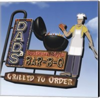 Framed Dad's Southern Style Bar-B-Q