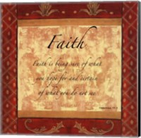 Framed Words to Live By, Traditional - FAITH