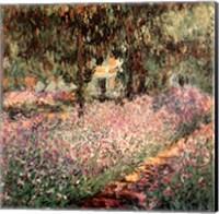 Framed Artist's Garden at Giverny, c.1900 (detail)