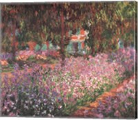 Framed Artist's Garden at Giverny, c.1900 (detail)