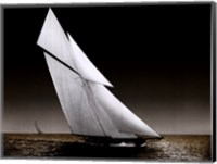 Framed Yacht Columbia on Water, 1899
