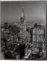 Framed New York, New York, Chrysler Building at Night