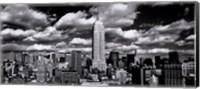 Framed New York, New York, Clouds Over Manhattan