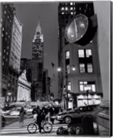 Framed Chrysler Clock, Madison Avenue