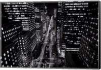Framed Park Avenue at Night, NYC