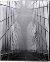 Framed Foggy Day on Brooklyn Bridge