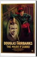Framed Mark of Zorro Douglas Fairbanks
