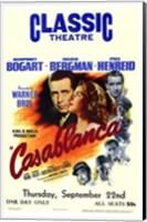 Framed Casablanca Classic Theater