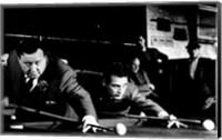 Framed Hustler Shooting Pool