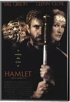 Framed Hamlet with a sword