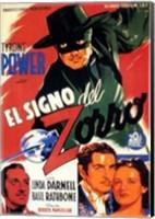 Framed Mark of Zorro Power (spanish)