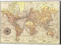 Framed World Map II