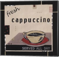 Framed Fresh Cappuccino