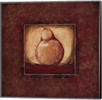 Framed Pear I