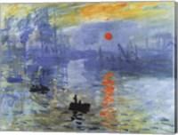 Framed Impression, Sunrise, c.1872