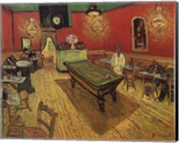 Framed Night Cafe in the Place Lamartine in Arles, c.1888