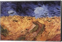 Framed Wheatfield with Crows, c.1890