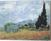 Framed Field of Wheat with Cypresses, c.1889